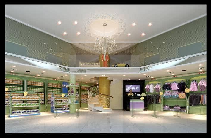 成都母婴店装修设计/婴幼儿生活用品店装修-钱眼产品