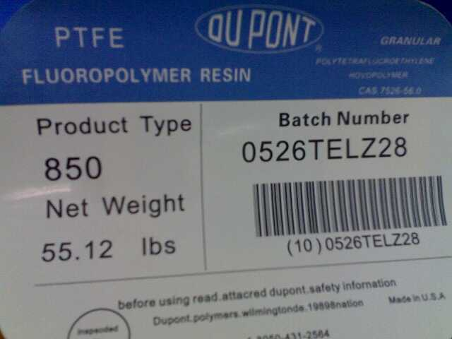 美国杜邦Teflon-PTFE-7A、7B低摩擦系数烧结成型模压成型应用