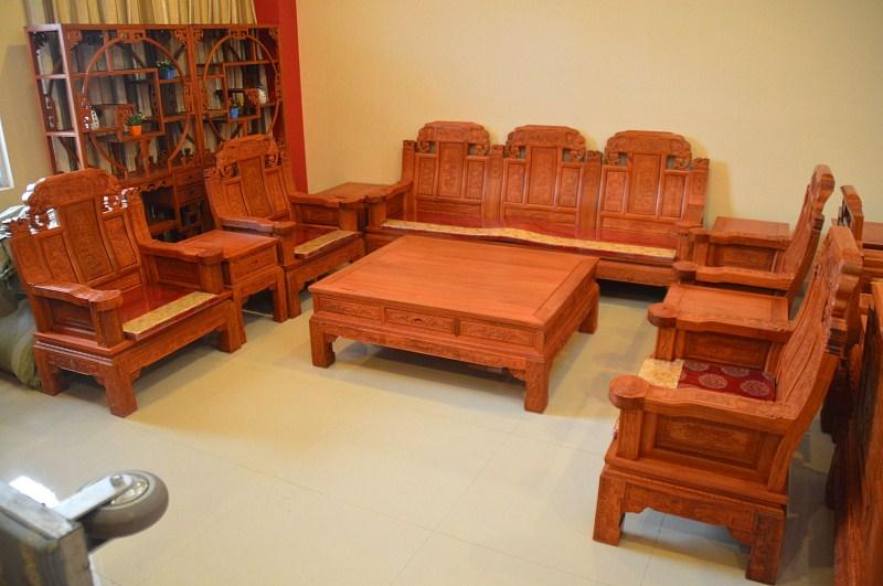 东阳红木家具批发红木家具市场缅甸花梨木象头沙发