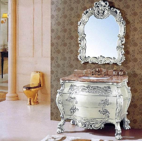广东仿古浴室柜品牌,佛山欧式浴室柜厂家
