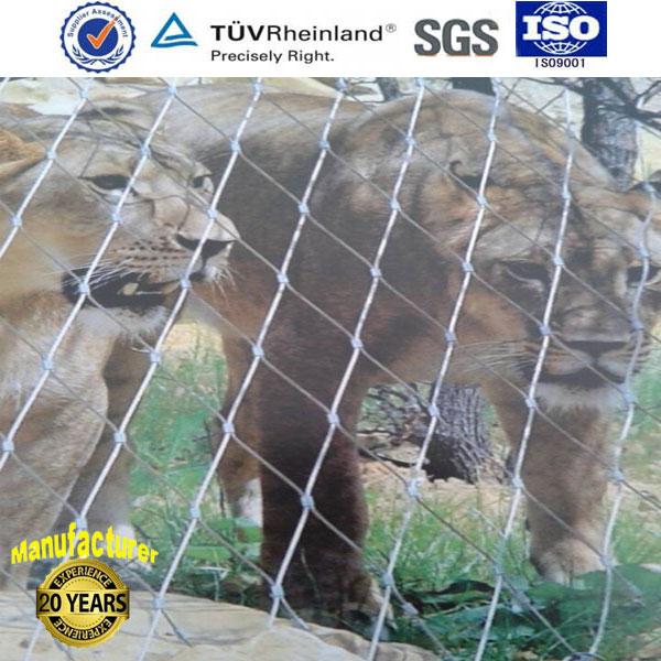 不锈钢钢丝绳编织网 动物园专用安全网