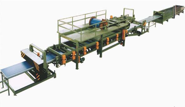 隔热夹芯复合板生产线,泡沫复合析生产线,岩棉复合板生产线,嘉泰机械生产