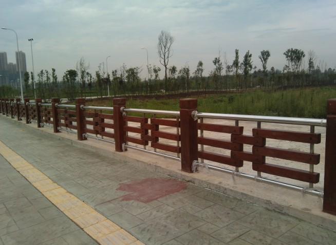 栏杆 仿木栏杆 资阳简阳铸造石喷砂栏杆 复合式栏杆