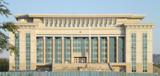 新疆石材幕墙施工,工程案例:新疆克拉玛依区法院办公楼工程