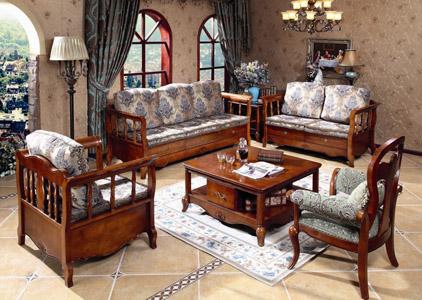 小镇简欧深色白色客厅实木枫木带储物布艺实木沙发