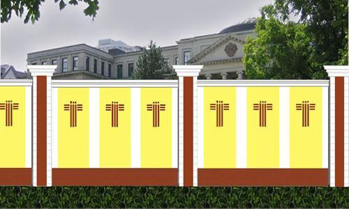欧式砖砌围墙造型图