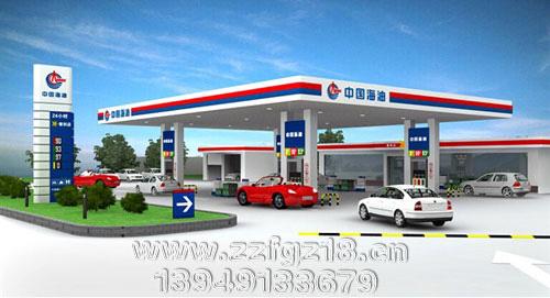供应内蒙古 辽宁 吉林 黑龙江中国海油加油站立柱广告牌图片