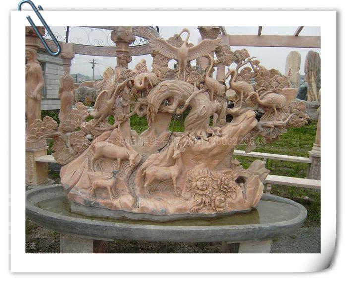 厂家定做石雕吉祥树 精美吉祥树雕刻