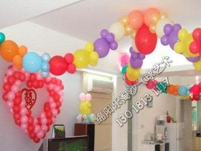 绵阳乐淘沙气球婚礼婚房气球颜色搭配装饰布置