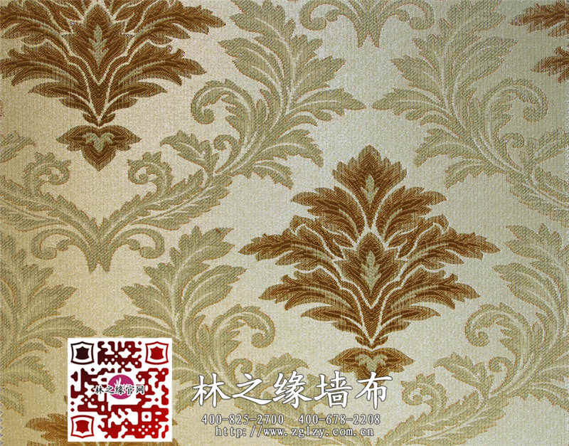 林之缘欧式典雅风格卧室客厅书房背景墙大花无缝墙布