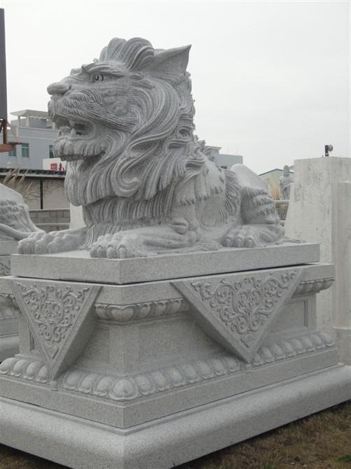 武汉石雕狮子,武汉汉白玉石狮子价格图片