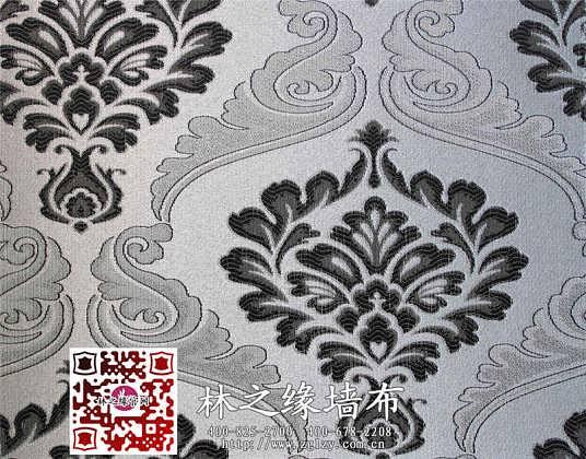 无缝墙布价格 林之缘欧式大花客厅卧室书房背景墙无缝