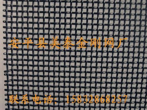 12目不锈钢304金刚网【黑色喷塑现货】