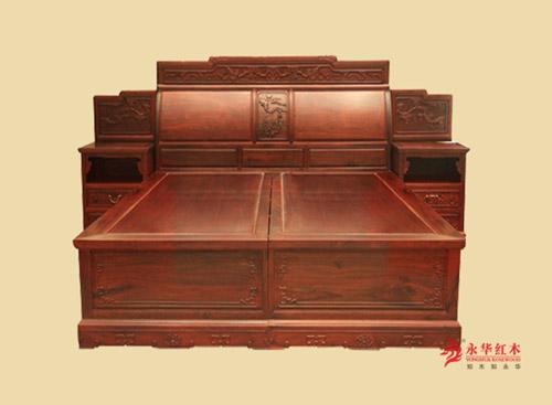 广东红木大床&明清古典风格-红木家具品牌