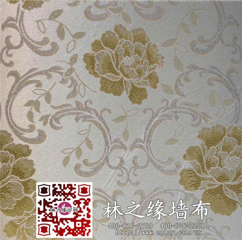 墙布价格 欧式典雅风格大花卧室客厅书房环保无缝墙布