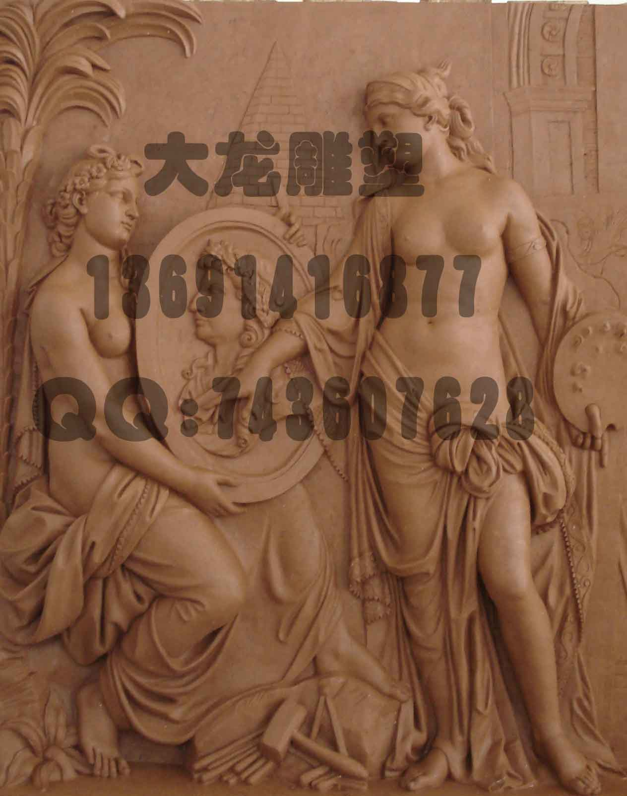 欧式浮雕别墅装饰雕塑_北京建龙鼎盛景观雕塑工程技术