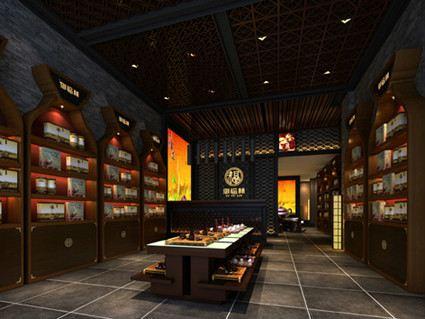 郑州烟酒茶叶设计制作展示柜尺寸空间色彩搭配效果图