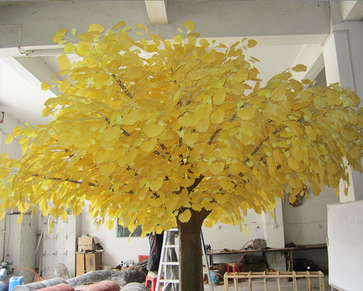 室内装饰假人造胡杨树