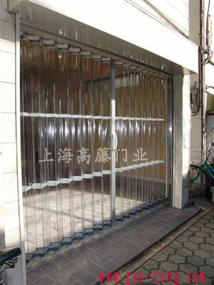 防静电超透  明pvc 折叠门帘
