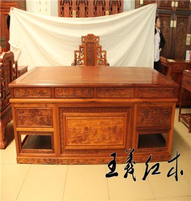 办公红木家具王义花梨木办公桌