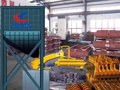 广告砂装置生产线铸造厂树脂砂材质制作树脂生产线成套设备造型造型喷绘铸造的工艺图片