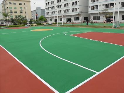 丙烯酸篮球场施工每平方米造价多少钱 篮球场