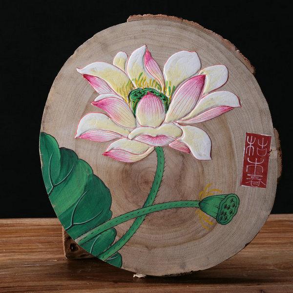 老樟木风化木板画,禅意挂画