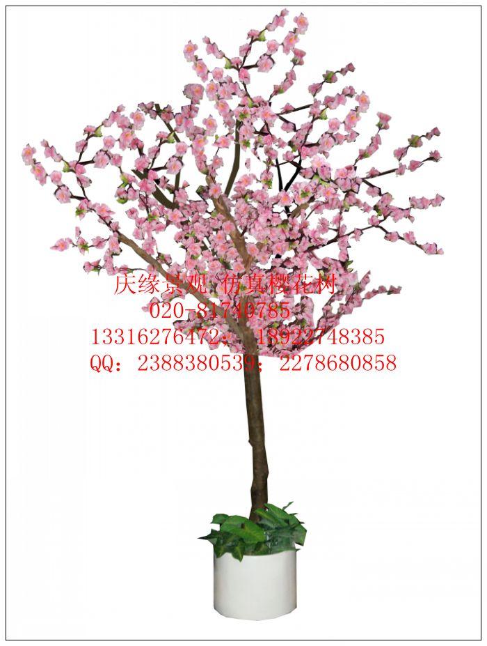 盆栽桃花树素材