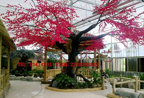 仿真桃树 人造假树樱花树腊梅树许愿树大堂酒店商场摆设装饰桃花