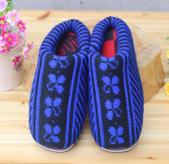 手工毛线棉拖鞋批发价格毛线棉鞋批发厂家