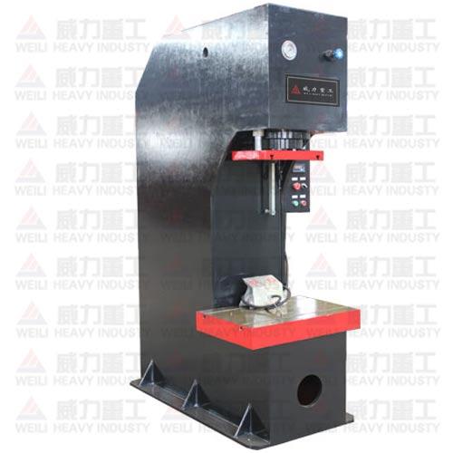 y41系列单柱液压机机架选用优质钢板经有限元分析图片