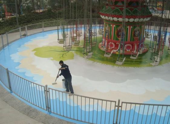 重庆环氧地坪漆环氧手绘艺术地坪