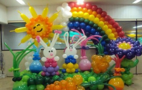 店庆室内气球布置图片
