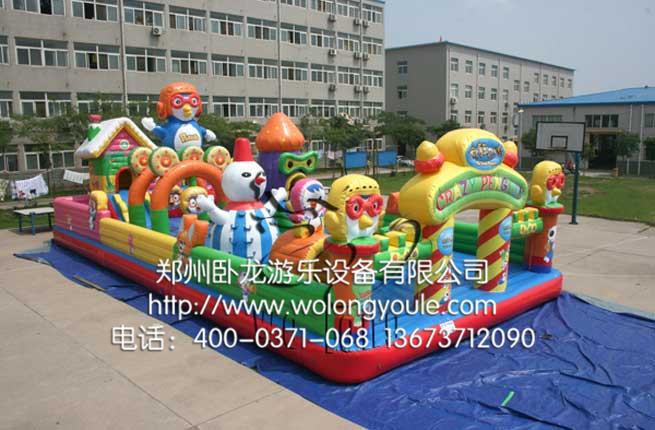 儿童充气城堡厂家-郑州市卧龙游乐设备有限公司