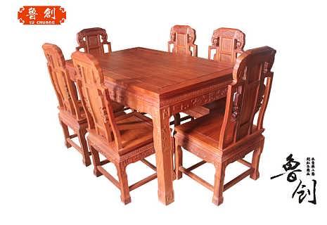 福禄寿餐桌厂家直销东阳木雕,红木家具价格