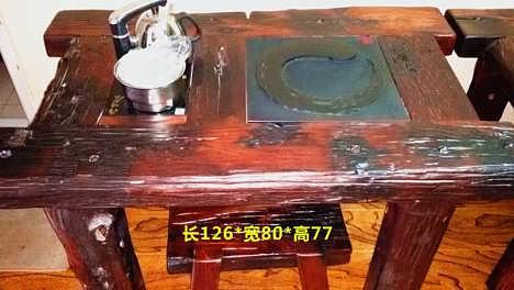 滨州百年古船老船木家具批发定做