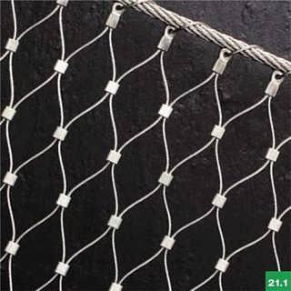 钢丝绳编织网/不锈钢绳网出厂价/钢丝绳网