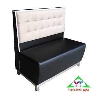 天津西餐厅沙发现代欧式软包皮制沙发厂家直销