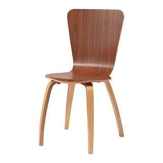 贴木皮喷油漆曲木椅 餐厅餐椅