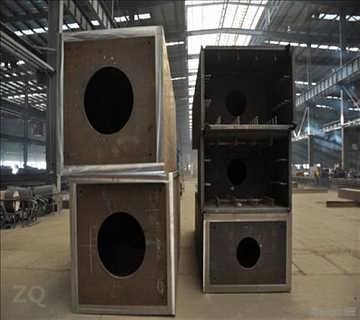 箱型柱的制作集焊接装配,表面处理工艺为一体,以下工艺是根据构件结构