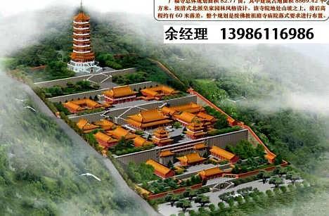寺院寺庙效果图-寺院设计图-寺庙规划图