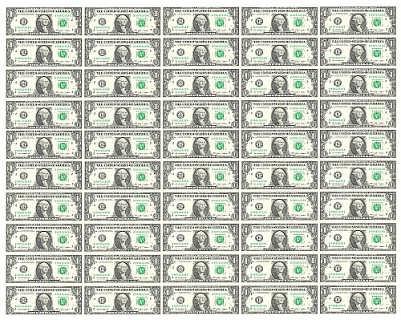 济南哪有卖1美元50连体钞的 整版同号美元大炮筒-济南东谷文化艺术策划有限公司