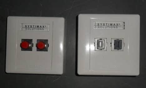 2口光纤面板盒 双口光纤桌面盒 FTTH光纤面板盒 信息盒