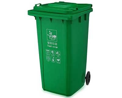 在需要的地方摆上四色垃圾桶,在桶上明确标注可以投放垃圾的种类,名称