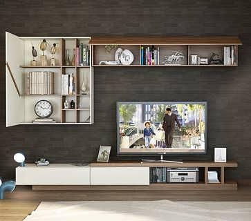 合肥哪里定做电视柜板式北欧风背景墙图片
