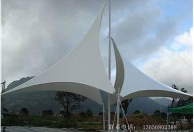 公交车站台,飞机场侯机厅,赛车场,码头等 商业设施膜结构 酒店,餐厅