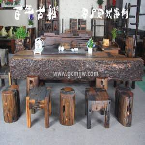 山东百年古船老船木家具