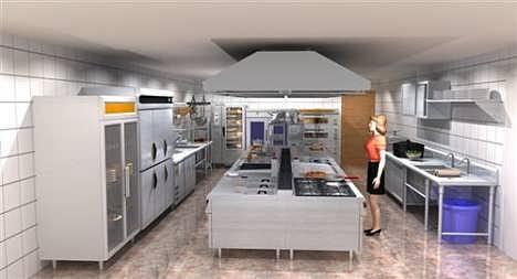 员工食堂厨房设计,新洲食堂厨房设计,佳福厨业多图