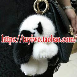 大号水貂毛小兔子正版毛绒装死兔萌萌兔包包挂件钥匙扣