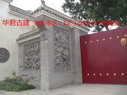 5 仿古砖雕 一路莲科砖雕 动植物砖雕批发 西安市长安区华君园林古建